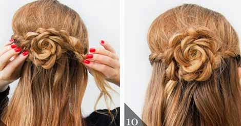 Lace Rose Half Up Hairstyle Tutorial Step By Step Beauty