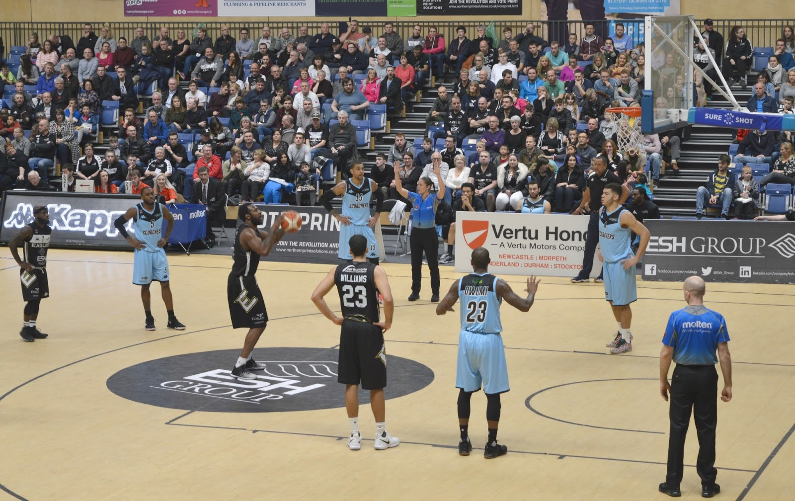 Newcastle Eagles Basketball Game
