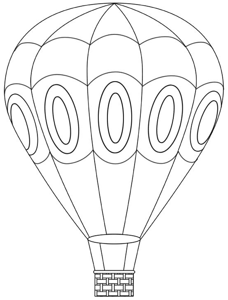 Gambar Balon Udara Untuk Mewarnai - Pewarna b