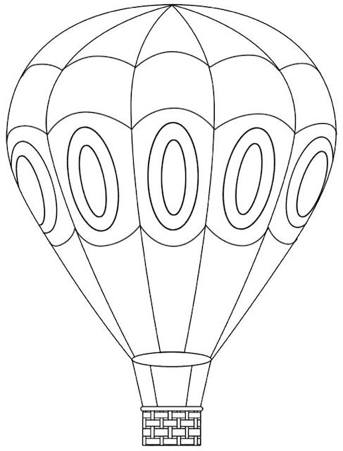 Gambar Mewarnai Balon Udara - 10