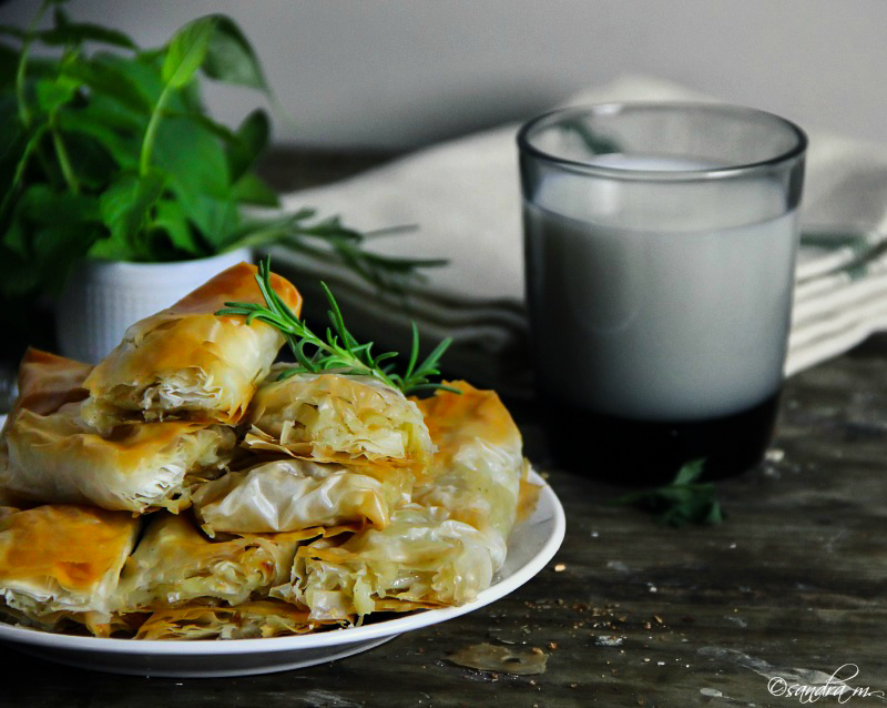 Phyllo potato pie