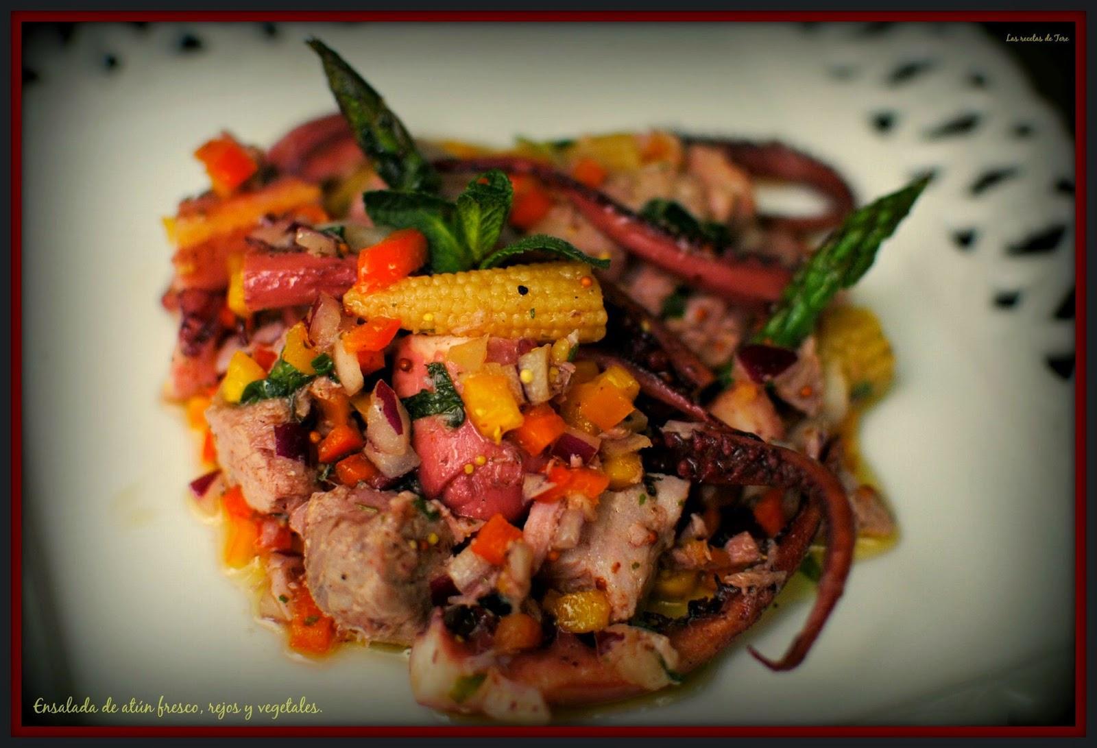 ensalada de atún fresco rejos y vegetales tererecetas 03