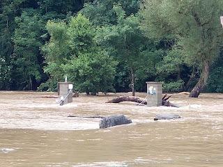 Hochwasser Prüm - Camping Südeifel - Überfluteter Stellplatz