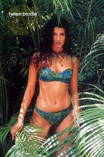 Helen Brodie In Green Bikini