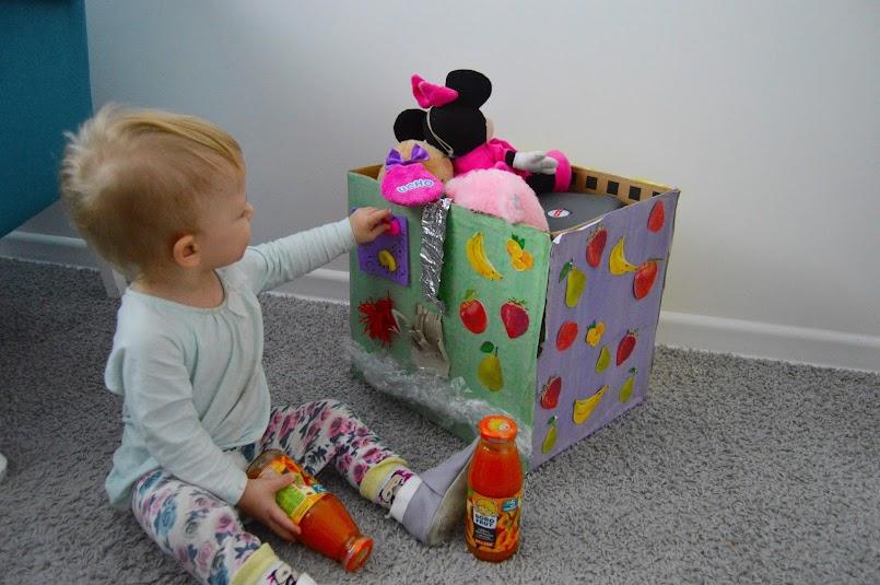 Pojemnik na zabawki DIY z elementami SI