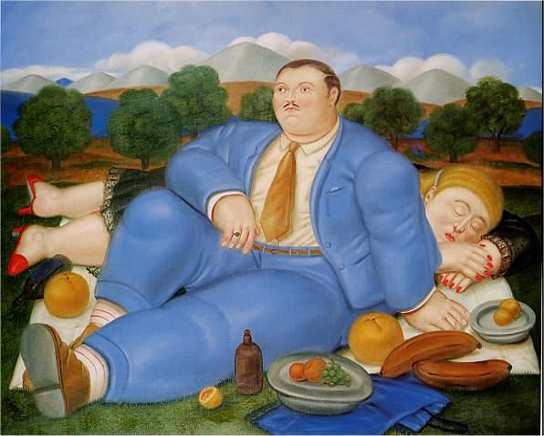 Tranh Botero, Tranh sơn dầu
