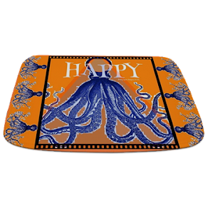 Too Happy Octopus Bathmat