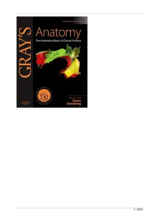 Gray's Anatomy: The Anatomical Basis of Clinical Practice PDF Book