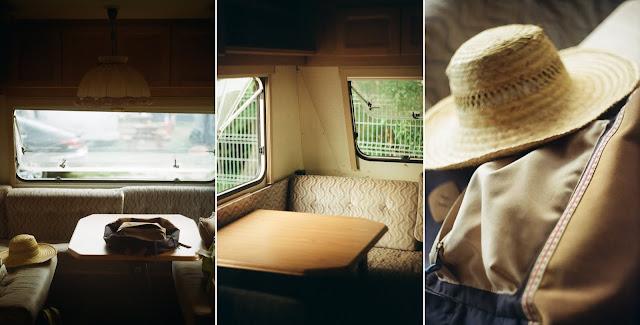 Zdjęcia analogowe z przyczepy campingowej w Chałupach.
