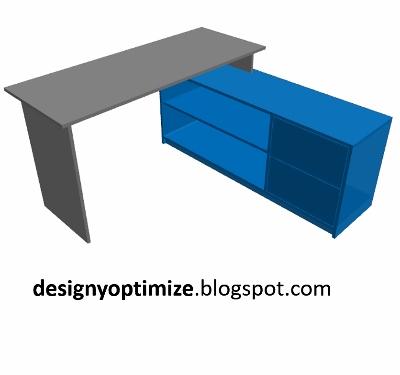 Dise o de muebles madera creaci n escritorio en l for Diseno de muebles de escritorio