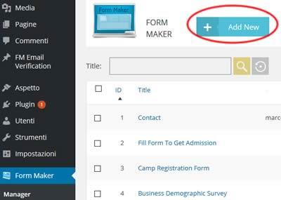 Come creare un form di contatti su wordpress