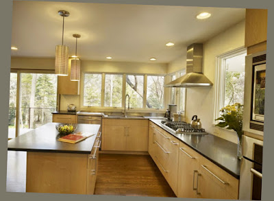 Amazing Kitchen Designs 2012 With 2 Small Lamp on The Plafond and 1 Table Photo 009