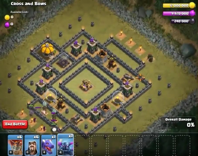 52. Cross and Bows Goblin Base COC