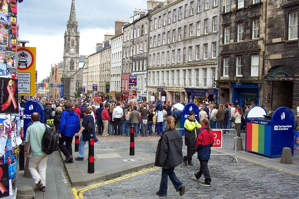 The Royal Mile at the Fringe Festival in Edinburgh