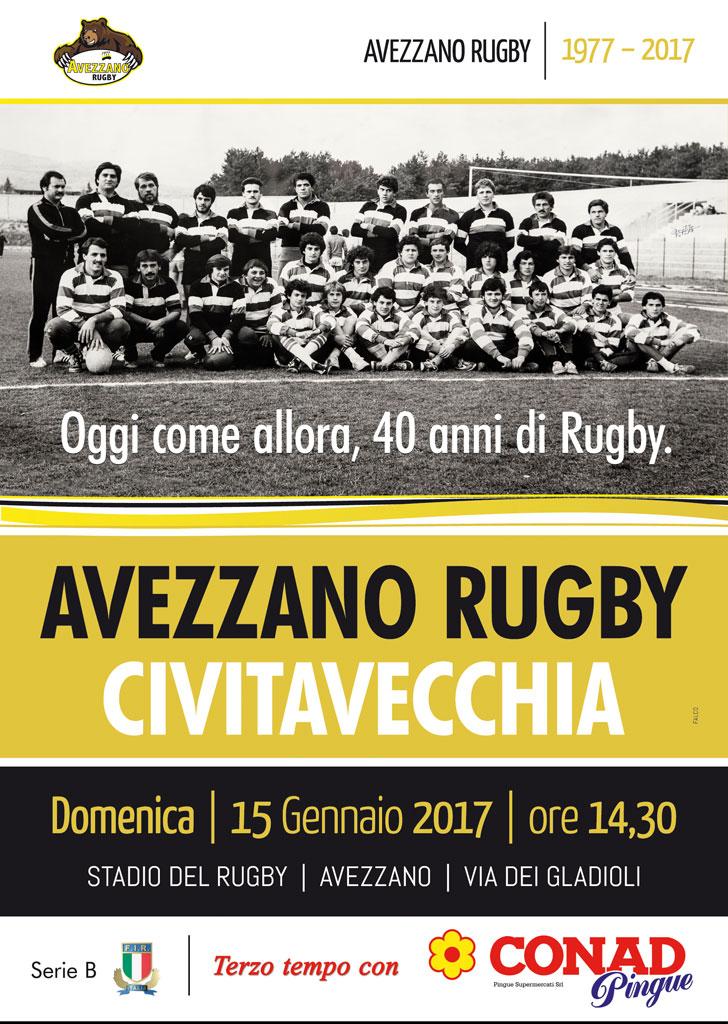 Locandina - Quarantennale Avezzano Rugby