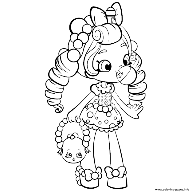 Shopkins Shoppies Doll Colouring Print Coloring Pages