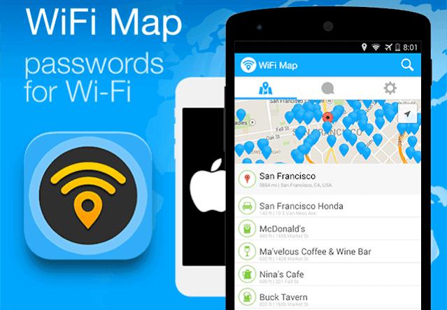 تهكير الواي فاي WiFi Map