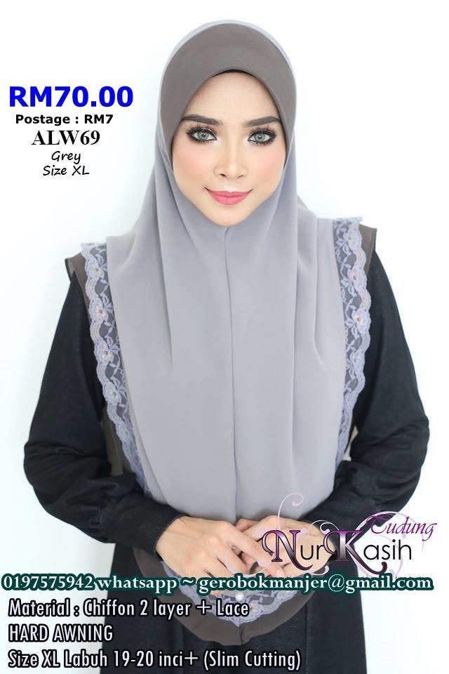 TUDUNG AMIRAH LACE NURKASIH SAIZ XL