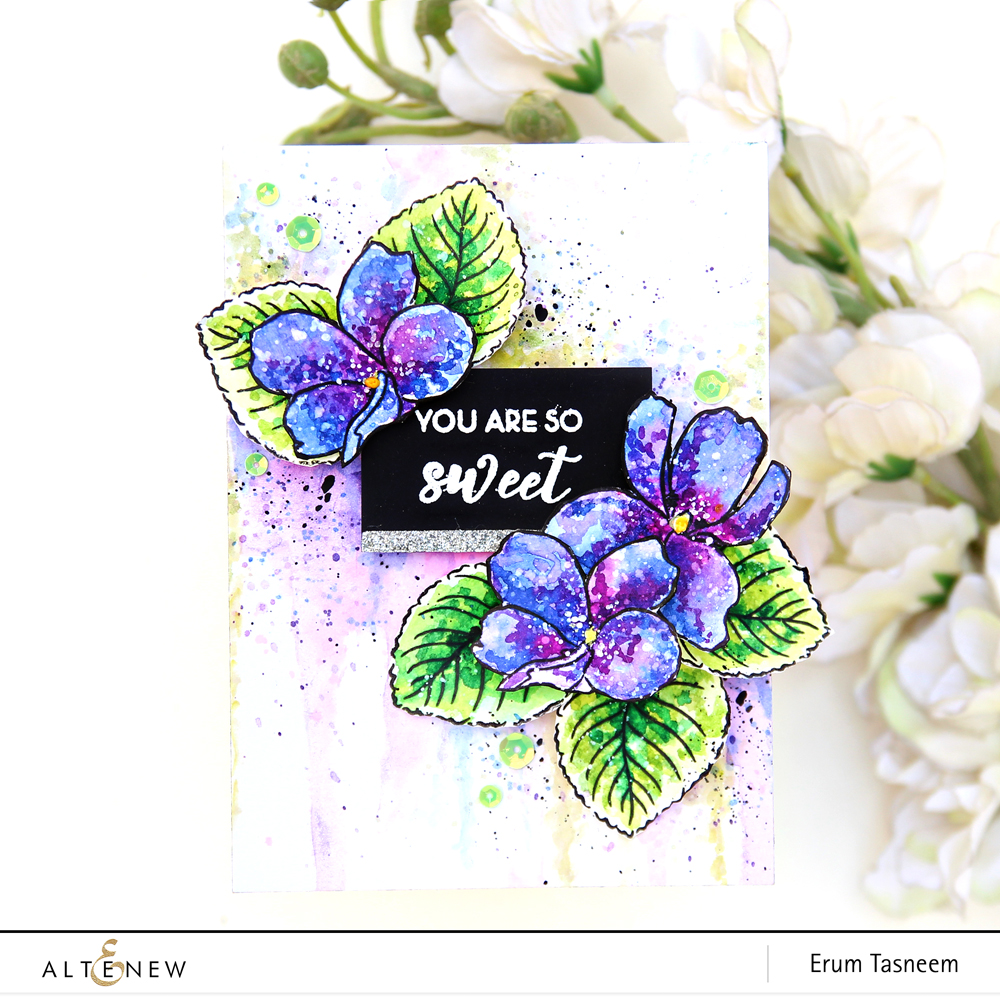 Altenew Build-A-Flower Sweet Violet | Erum Tasneem | @pr0digy0