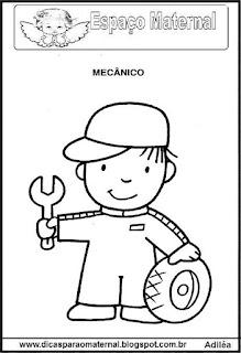 Desenho de mecânico para colorir