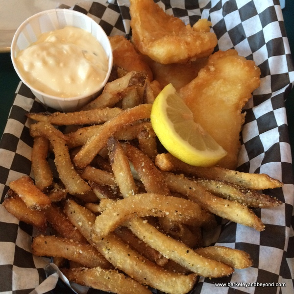 local halibut and chips at Lost Coast Brewery & Cafe in Eureka, California