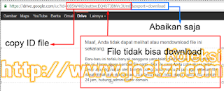 Mengatasi Limit Download Di Google Drive