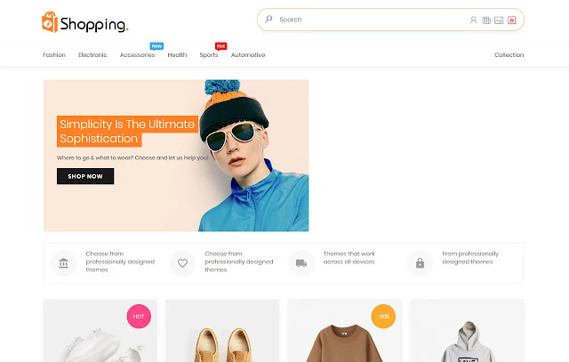 Shopping AMP Responsive Online Store Blogger Template Theme