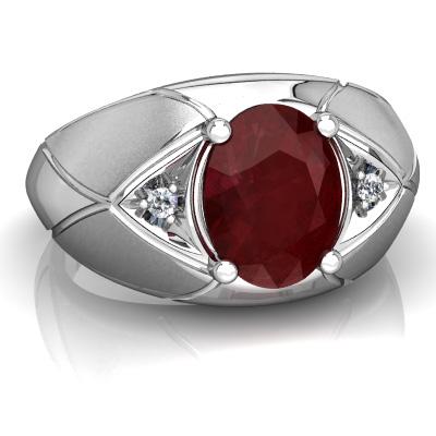 Nhẫn đá Ruby thiên nhiên