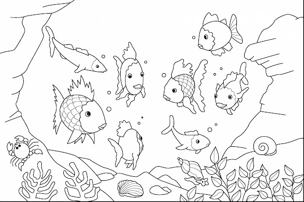 Ocean Coloring Pages Remarkable Fish Kids With Page And Printable Free