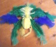 Mardi Gras Bird Mask for Shrove Tuesday with Feathers