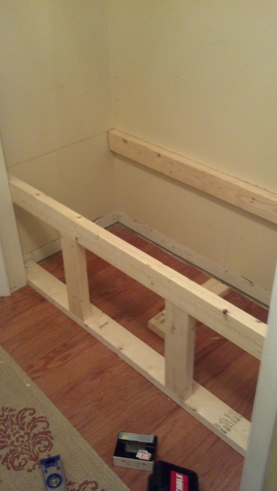 garage upper cabinet ideas - Our Pinteresting Family A Mudroom in a Closet