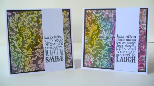 Specialty Paper and Gelatos Color Floral Card Set by Dana Tatar