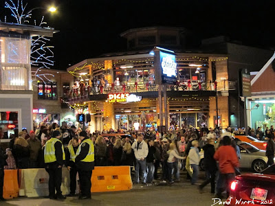 downtown gatlinburg at night, tennessee, party