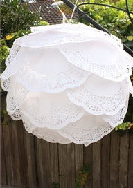 paper doilies suspension