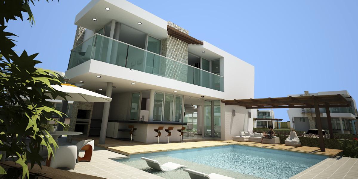 Imagenes de fachadas de casas de dos pisos modernas for Casas rectangulares