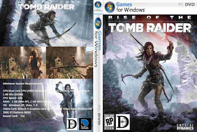 Jogo Rise of The Tomb Raider PC DVD Capa