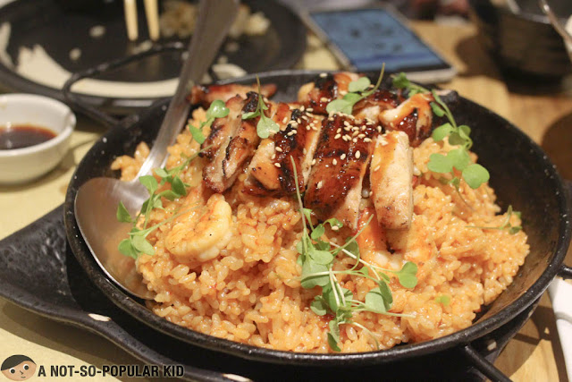 Chicken and Shrimp Japanese Paella