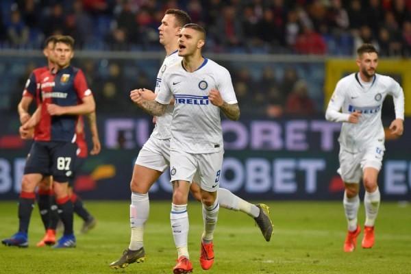 Icardi Kembali Bermain, Inter Milan Pesta Gol ke Gawang Genoa