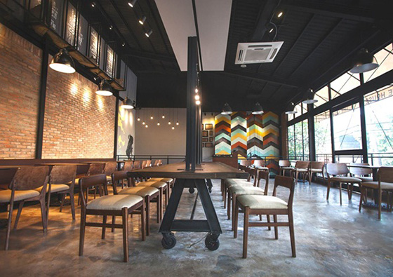 Khu Cafe tarrace tai jamila