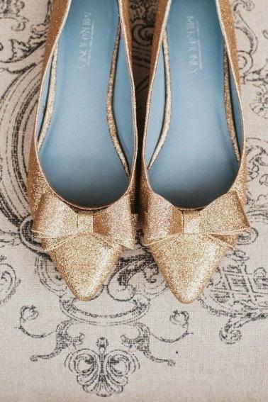 Gold Shoes Heels Weddings
