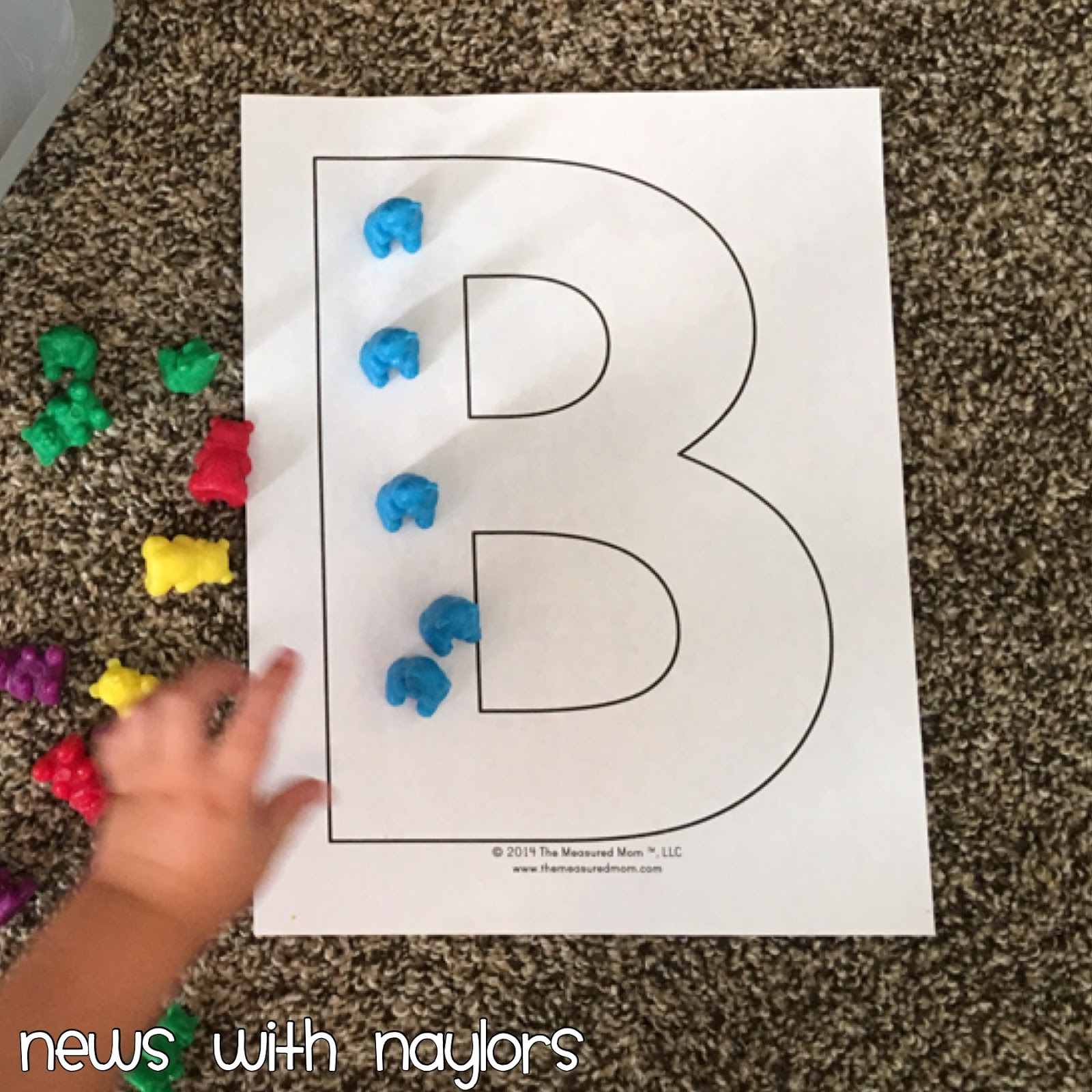 News With Naylors Letter B Bear Finger Painting Bear Counter