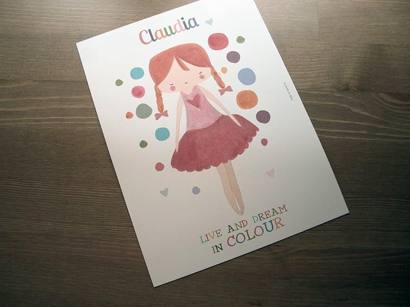 art print para habitación niña