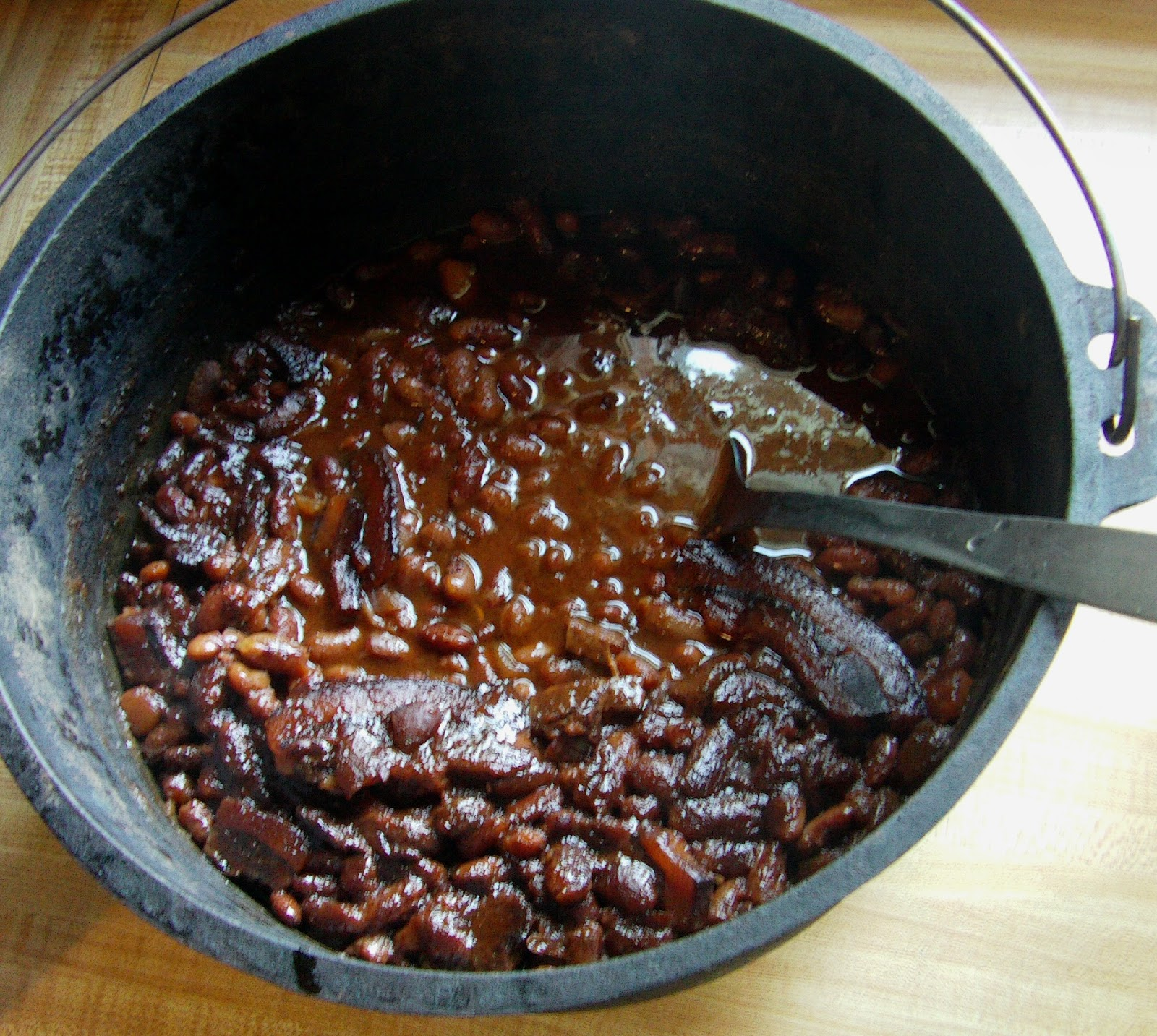 how to cook bean hole beans