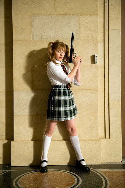 Kick-Ass Promotional Still Chloe Grace Moretz at County Hall Film Location