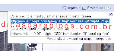 codigo do google maps para blogs