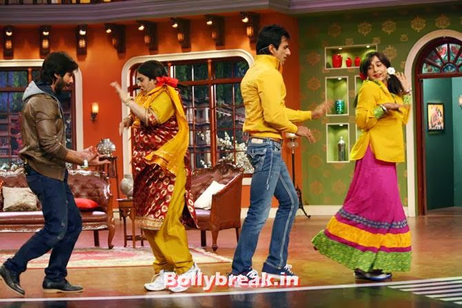 Shahid Kapoor, Kiku Sharda, Sonu Sood and Gaurav Gera, Shahid, Sonakshi promote R Rajkumar on Comedy Nights with Kapil