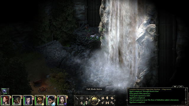 Pillars of Eternity Awesome Waterfall Screenshot