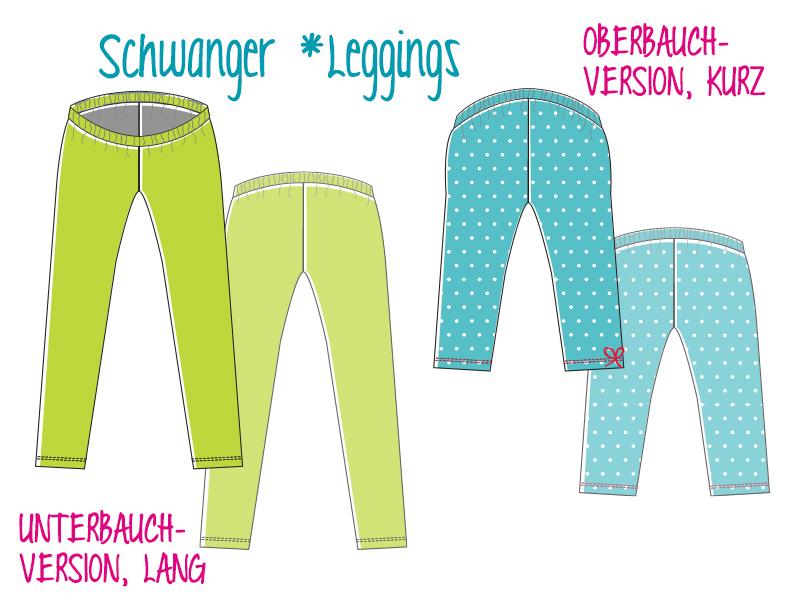 Schwanger *Leggings: e-Book und Schnittmuster ...