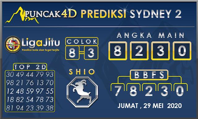 PREDIKSI TOGEL SYDNEY2 PUNCAK4D 29 MEI 2020
