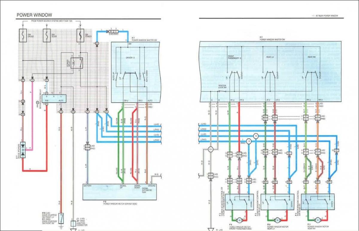 Avensis Corona 1997 Electrical Wiring Diagram